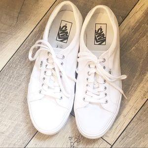 White Vans women's 11